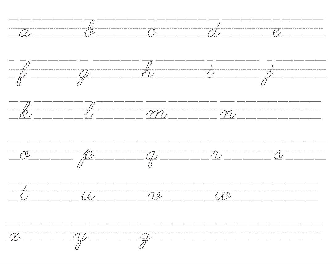 5 Best Cursive Lower Case Letters Printables