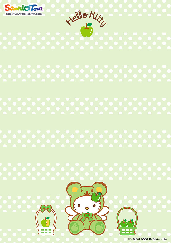 8 Best Images Of Hello Kitty Printable Stationary Free