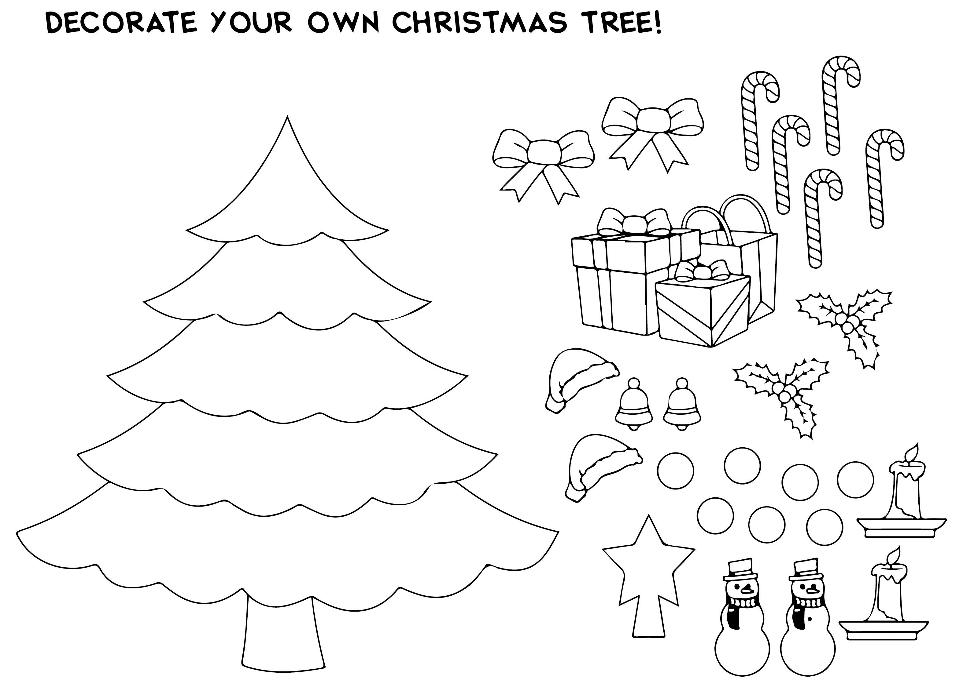 Snowman On Christmas Coloring Worksheet