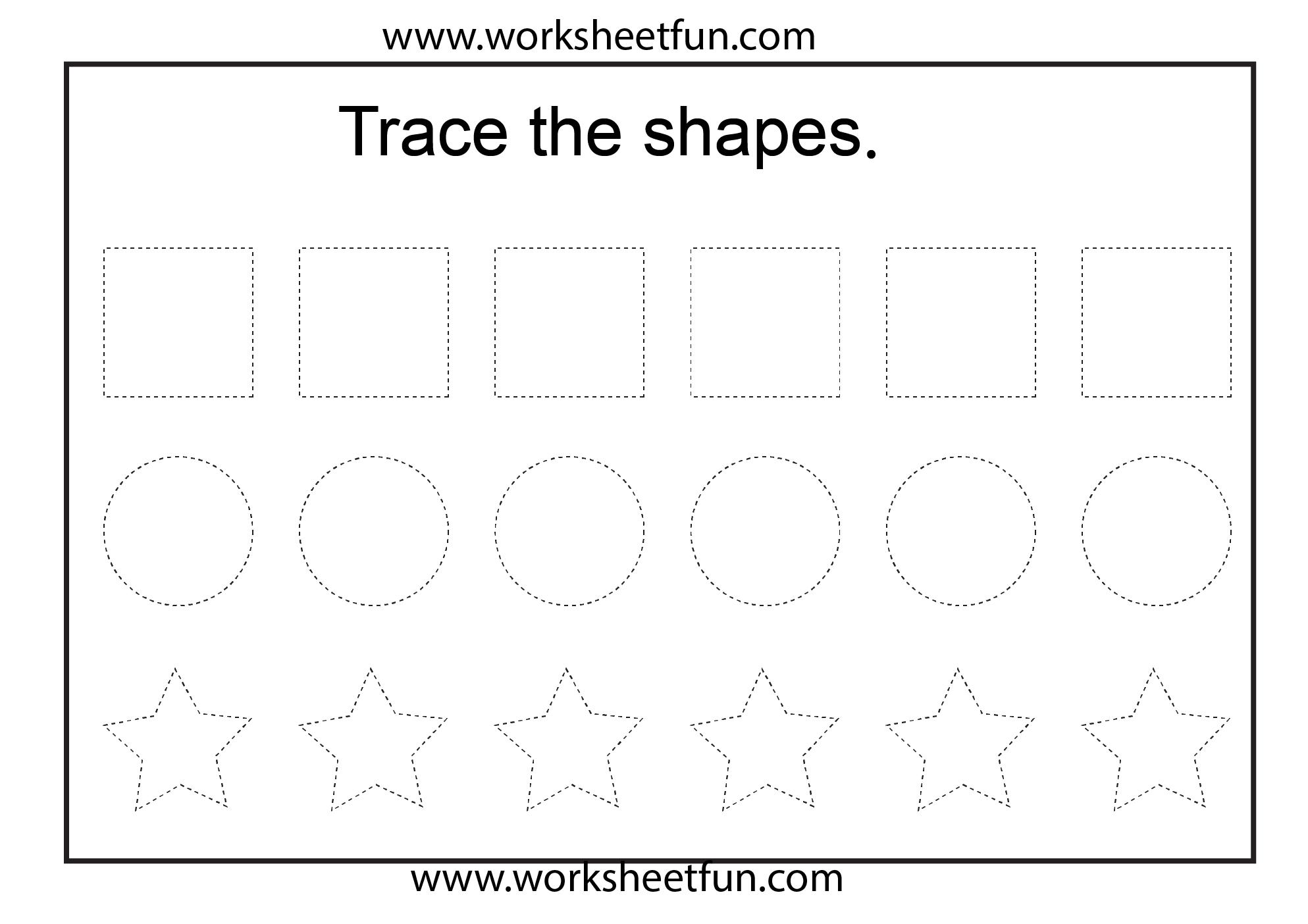 7 Best Images Of Traceable Shapes Square Preschool