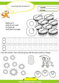 7 Best Images of Printable Number 8 Worksheet - Printable ...