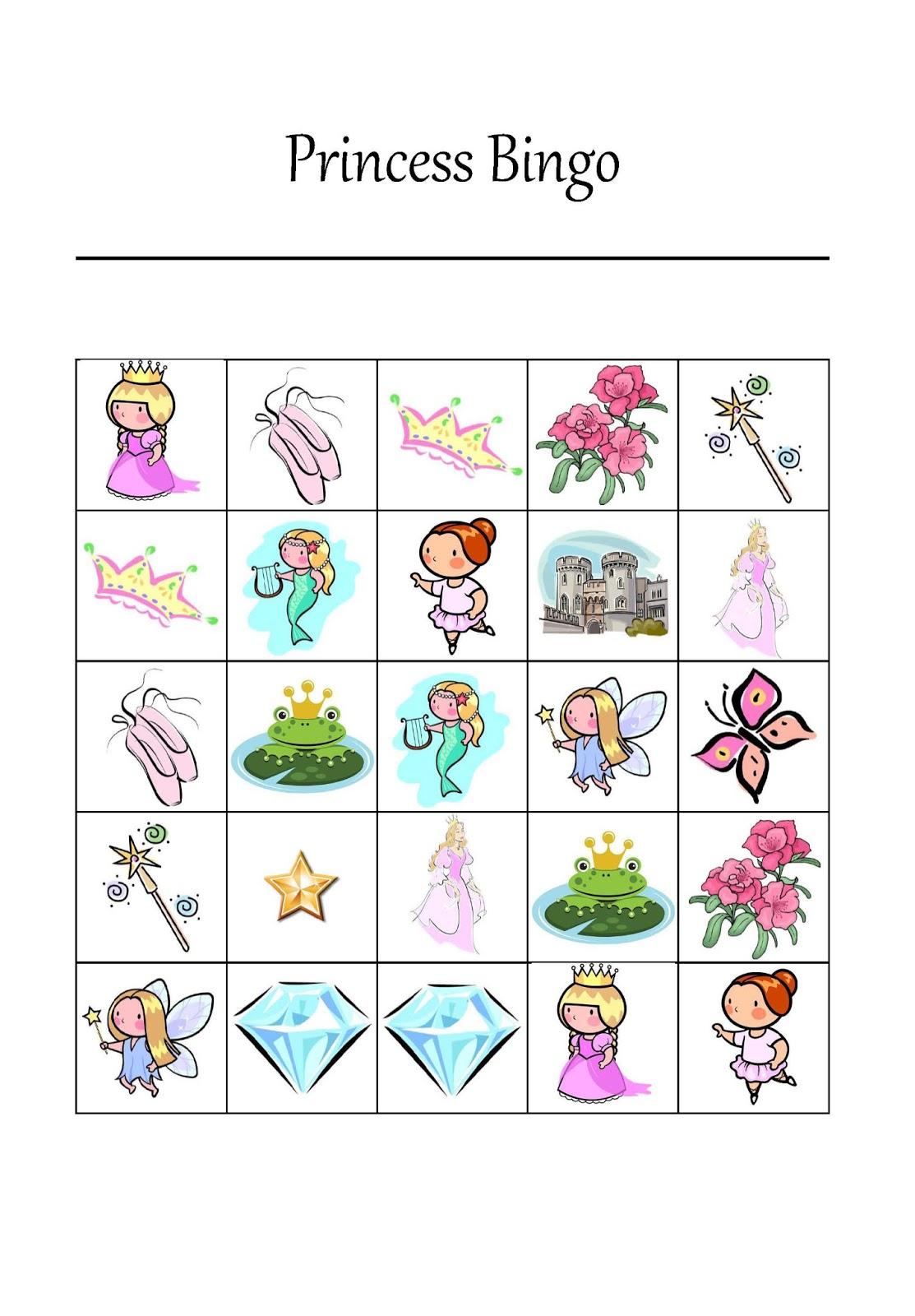 7 Best Images Of Fairy Bingo Game Printable