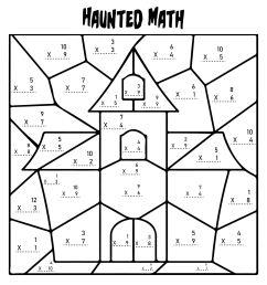 5 Best Multiplication Halloween Worksheets Printables - printablee.com [ 2250 x 2250 Pixel ]