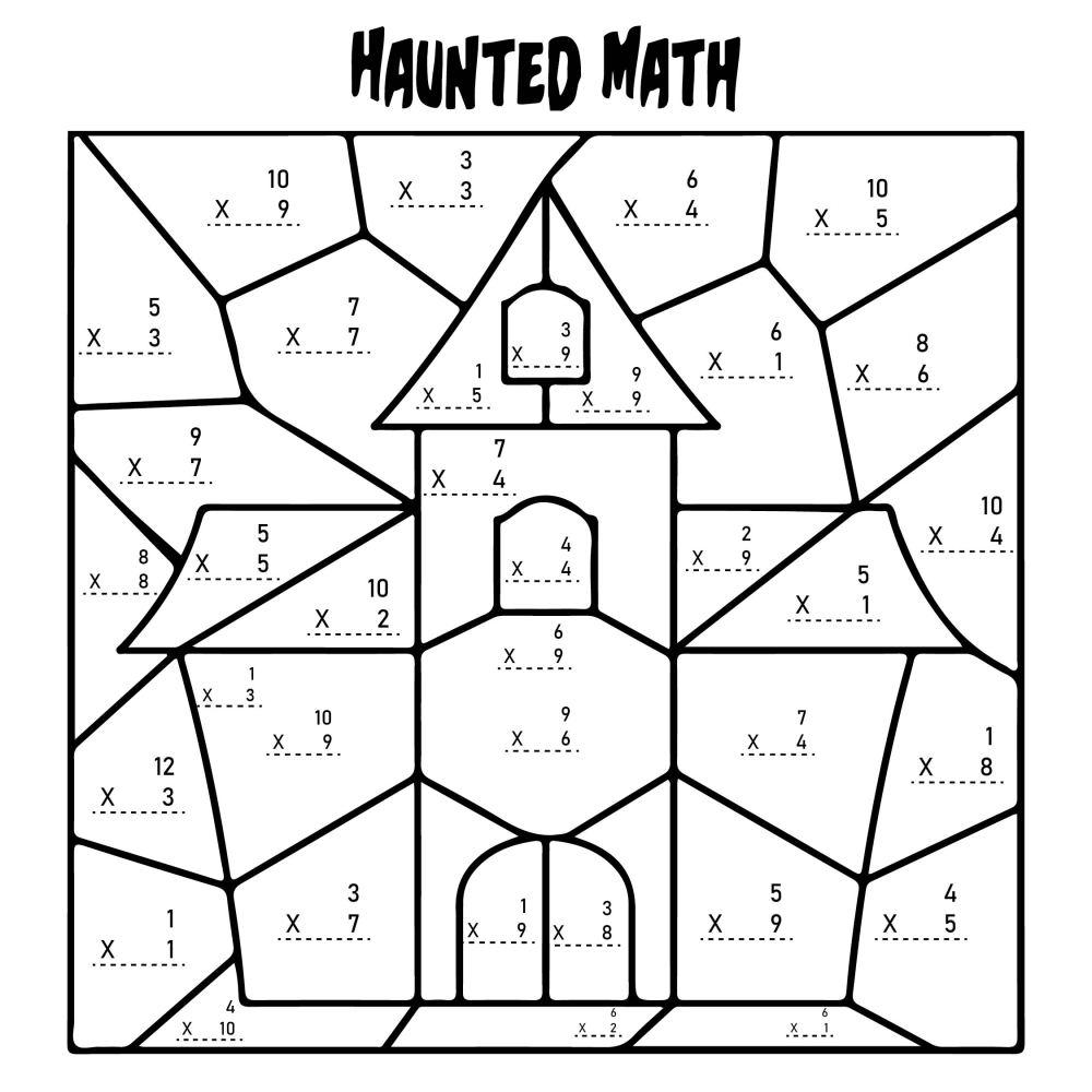 medium resolution of 5 Best Multiplication Halloween Worksheets Printables - printablee.com