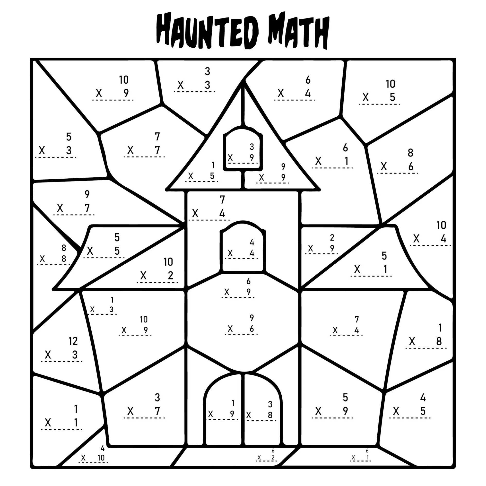 hight resolution of 5 Best Multiplication Halloween Worksheets Printables - printablee.com