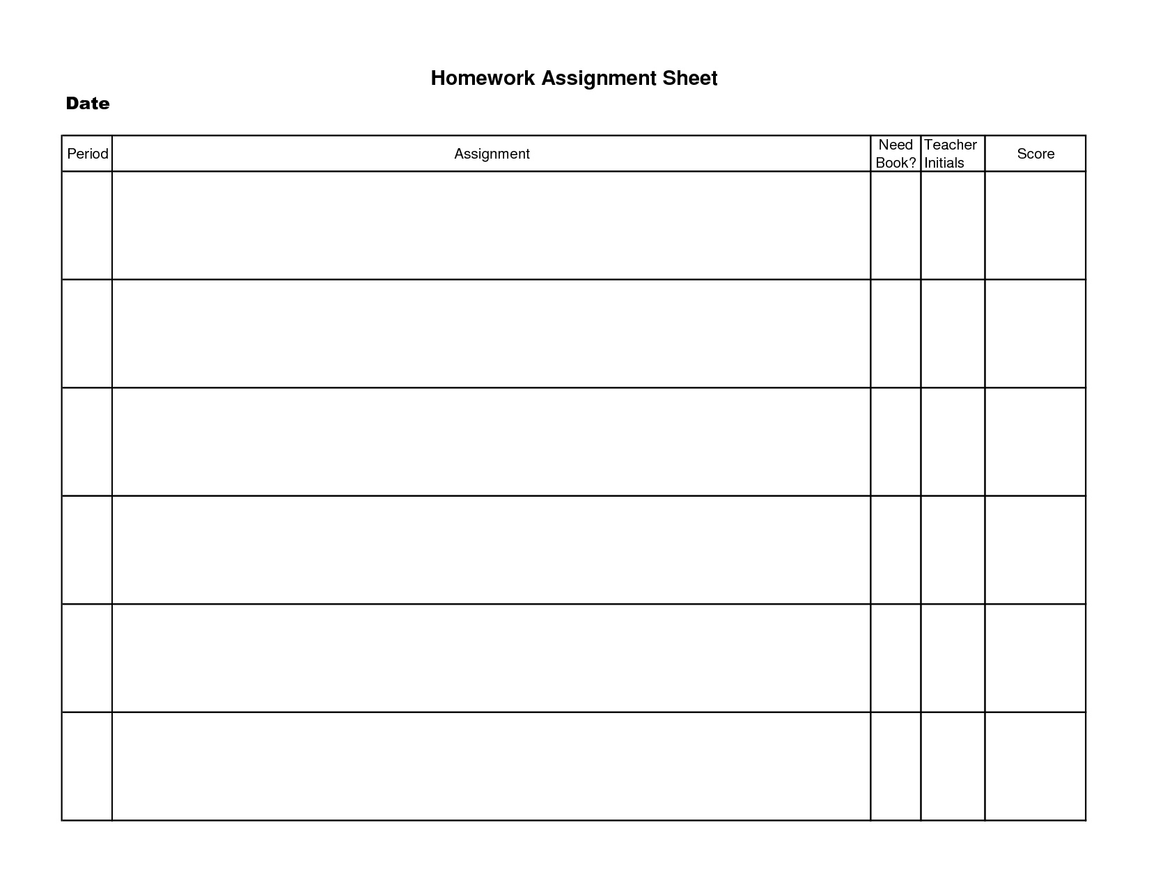 Nursing Assignment Worksheet