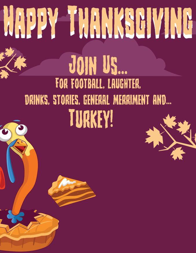 Thanksgiving invitation templates newsinvitation 7 best images of thanksgiving dinner invitation templates stopboris Images