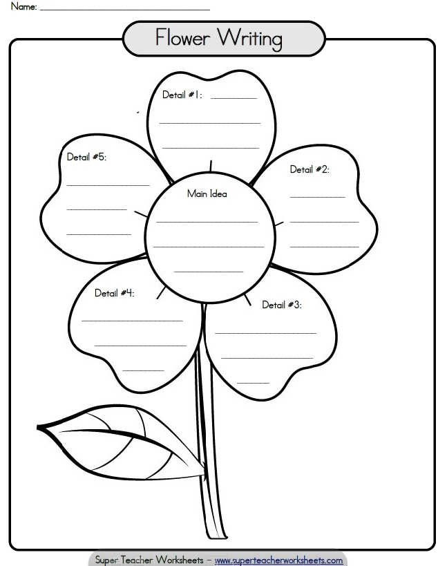 8 Best Images of Printable Flower Writing Template