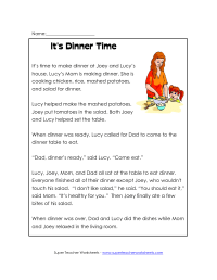 9 Best Images of Second Grade Reading Comprehension ...