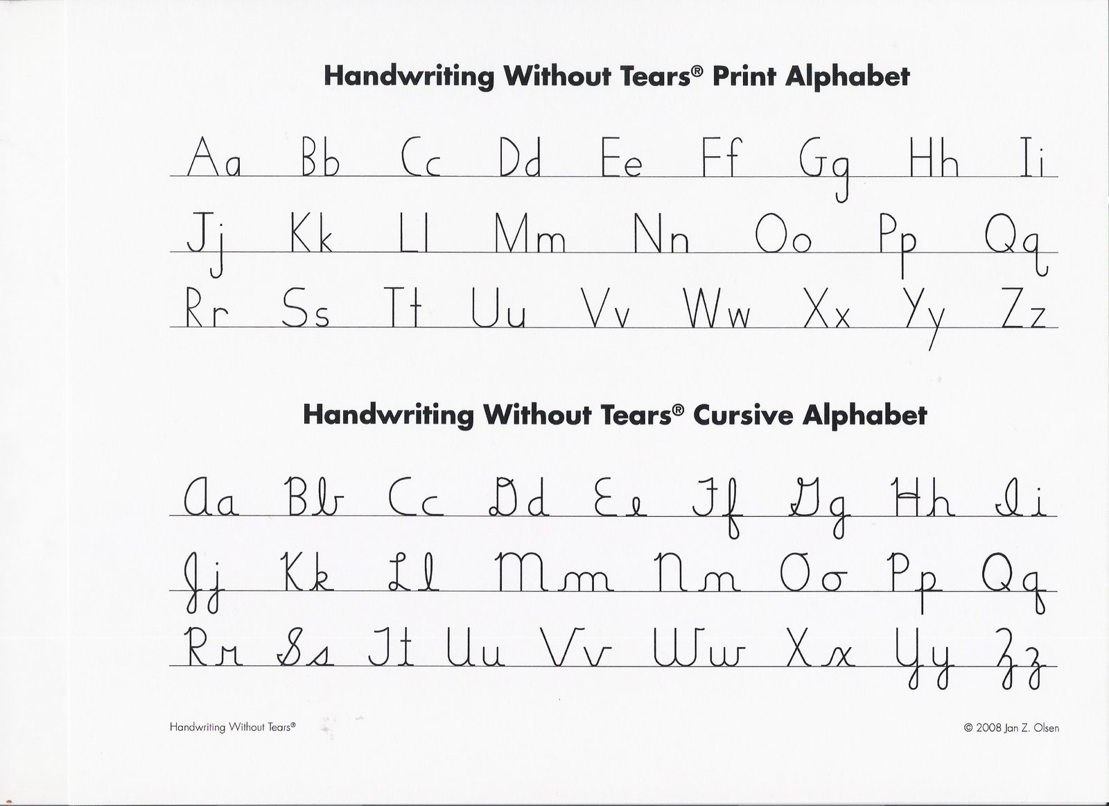 Printables Handwriting Without Tears Cursive Worksheets