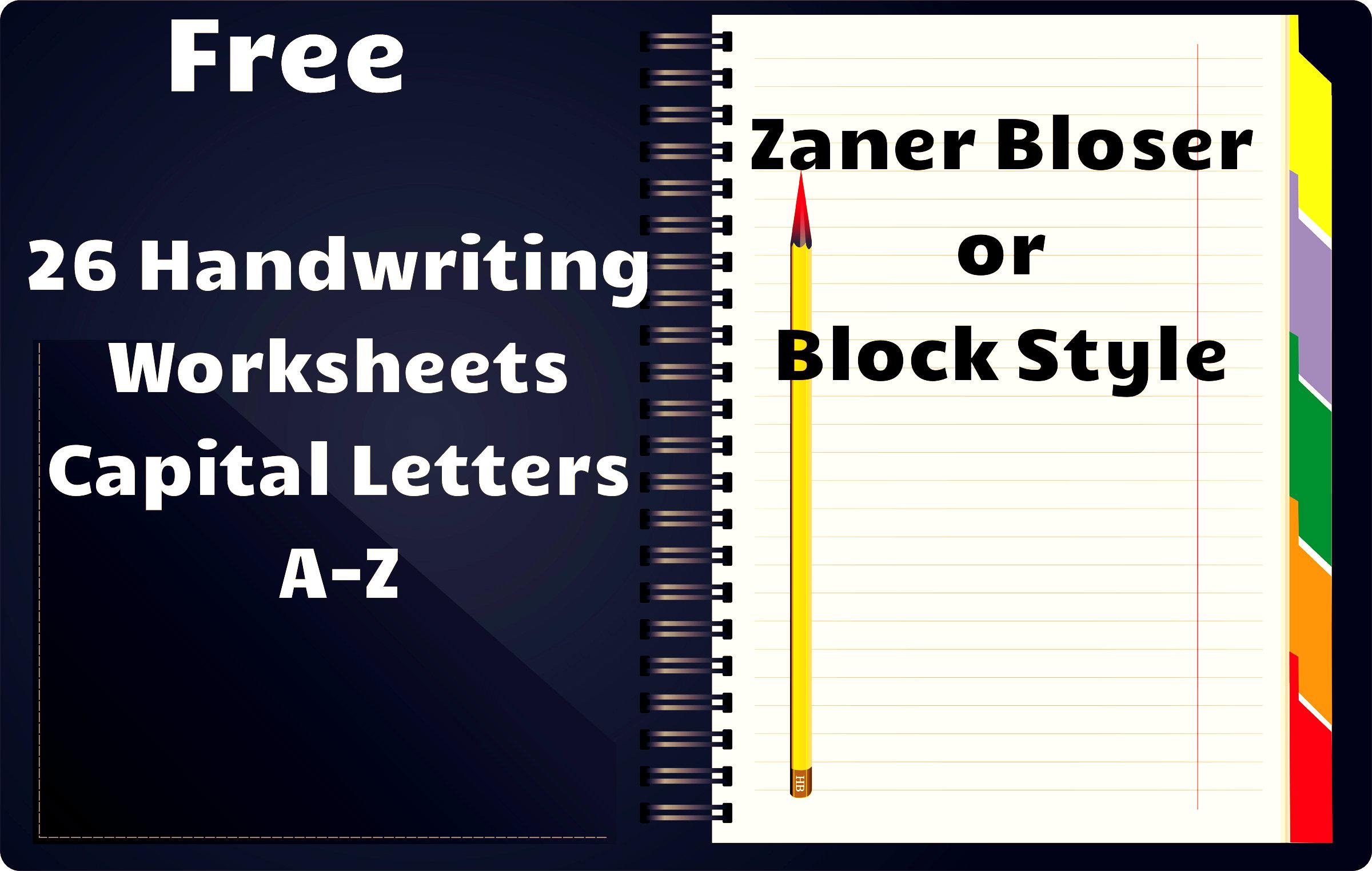 7 Best Images Of Zaner Bloser Handwriting Printables