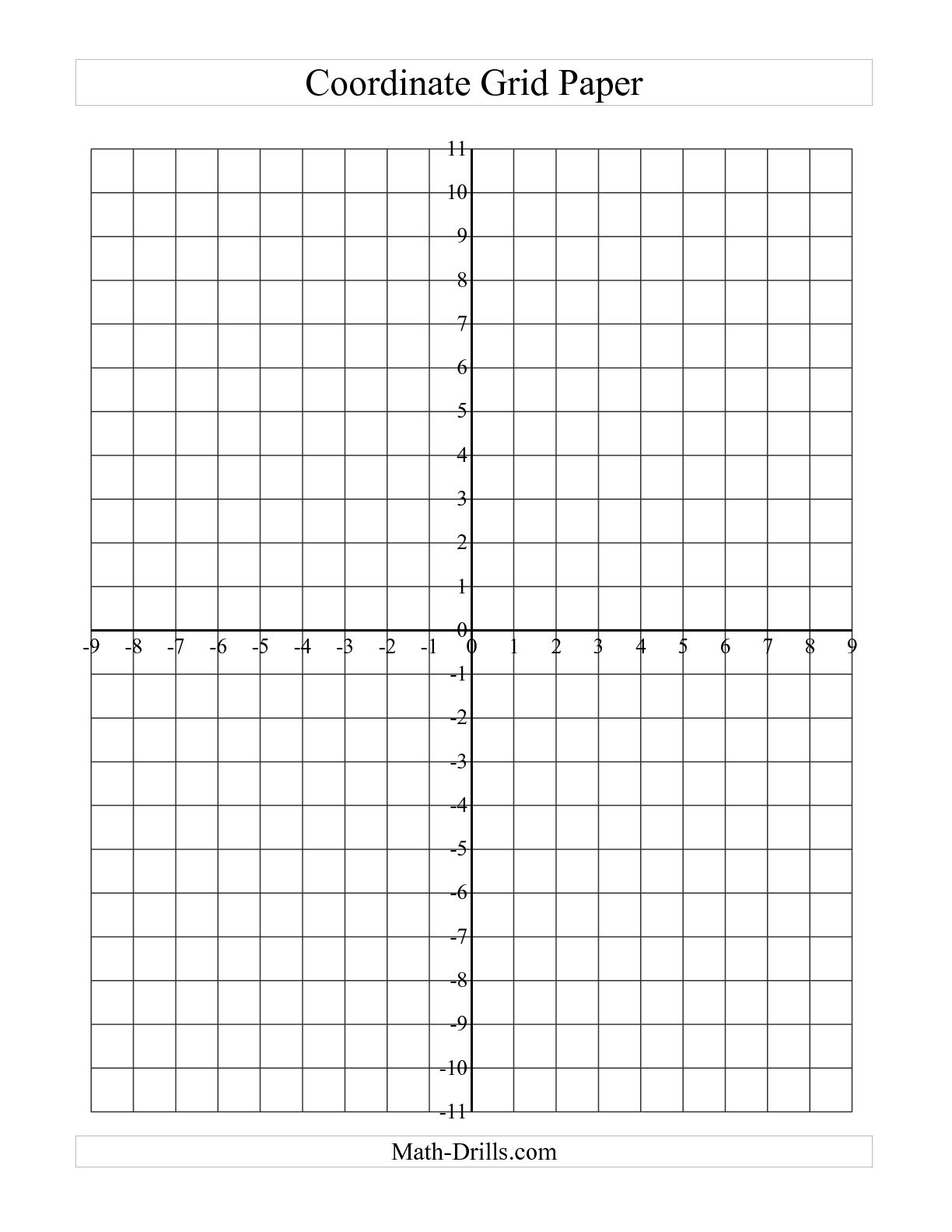 6 Best Images Of Printable Blank Graph Grid Paper