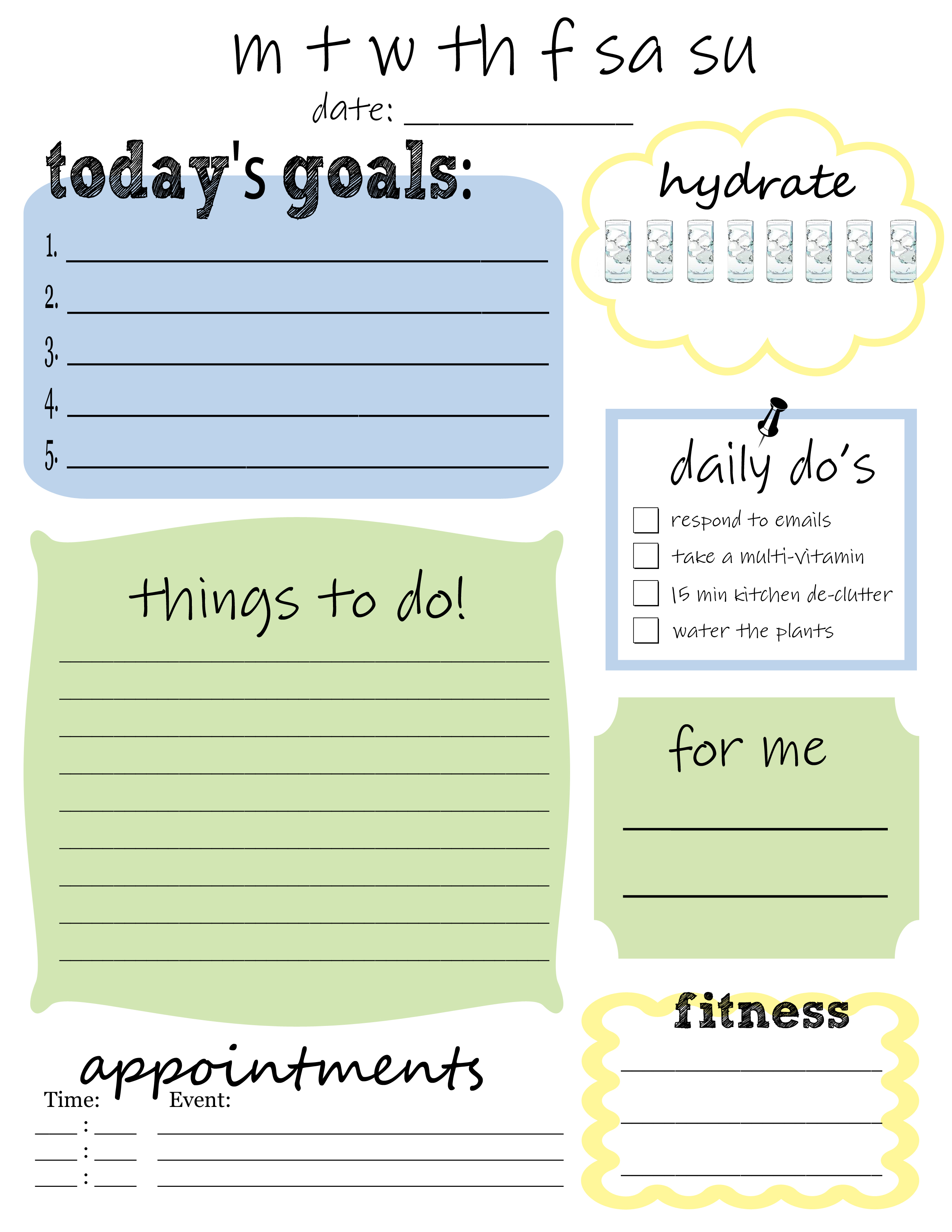 8 Best Images Of Printable Daily Planner To Do List