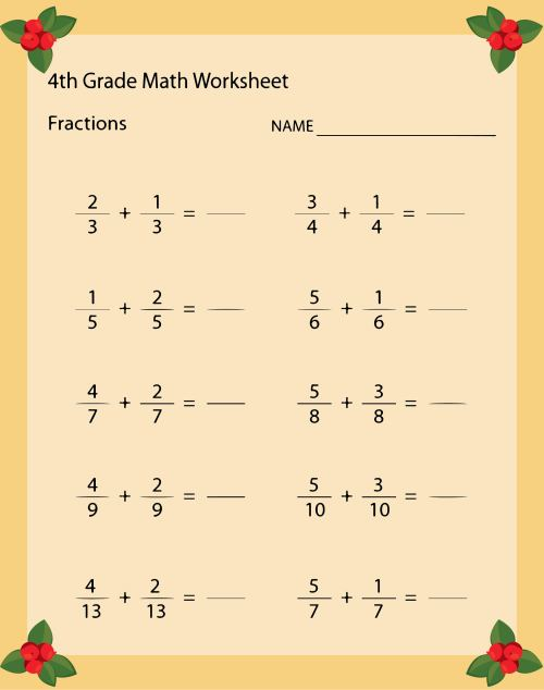 small resolution of 5 Best 4th Grade Math Worksheets Free Printable For Thanksgiving -  printablee.com
