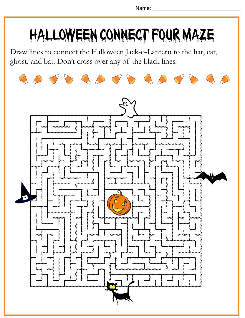 5 Best Images of Printable Halloween Puzzles 4th Grade