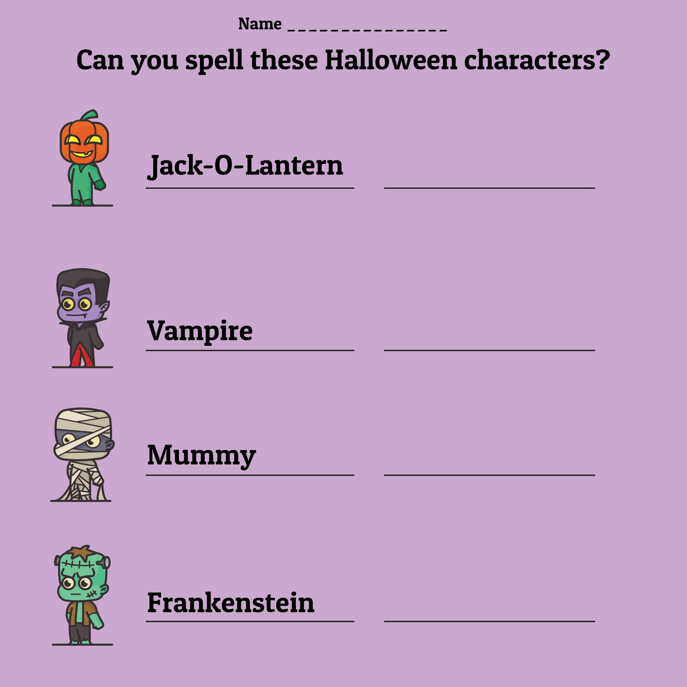 8 Best Images Of Free Printable Halloween Worksheets