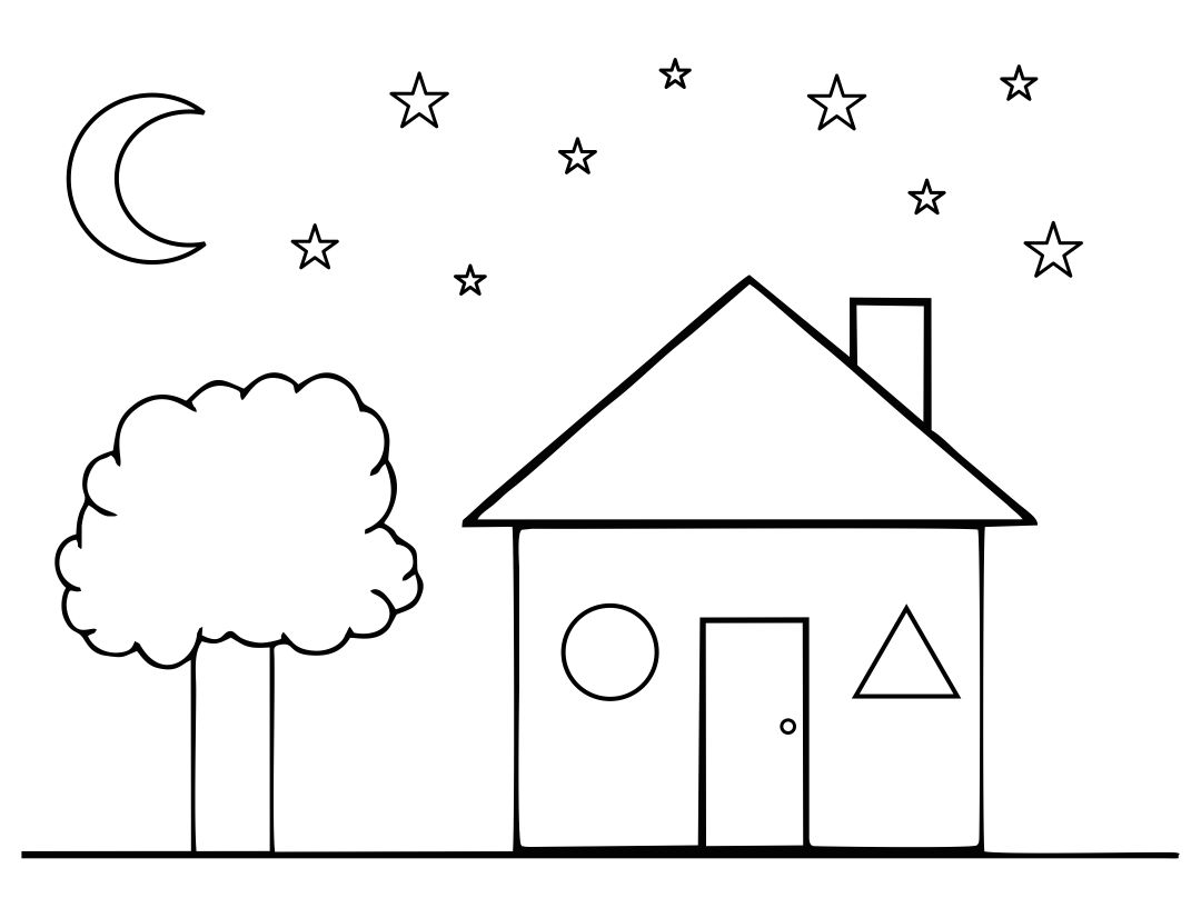 9 Best Images Of House Outline Printable