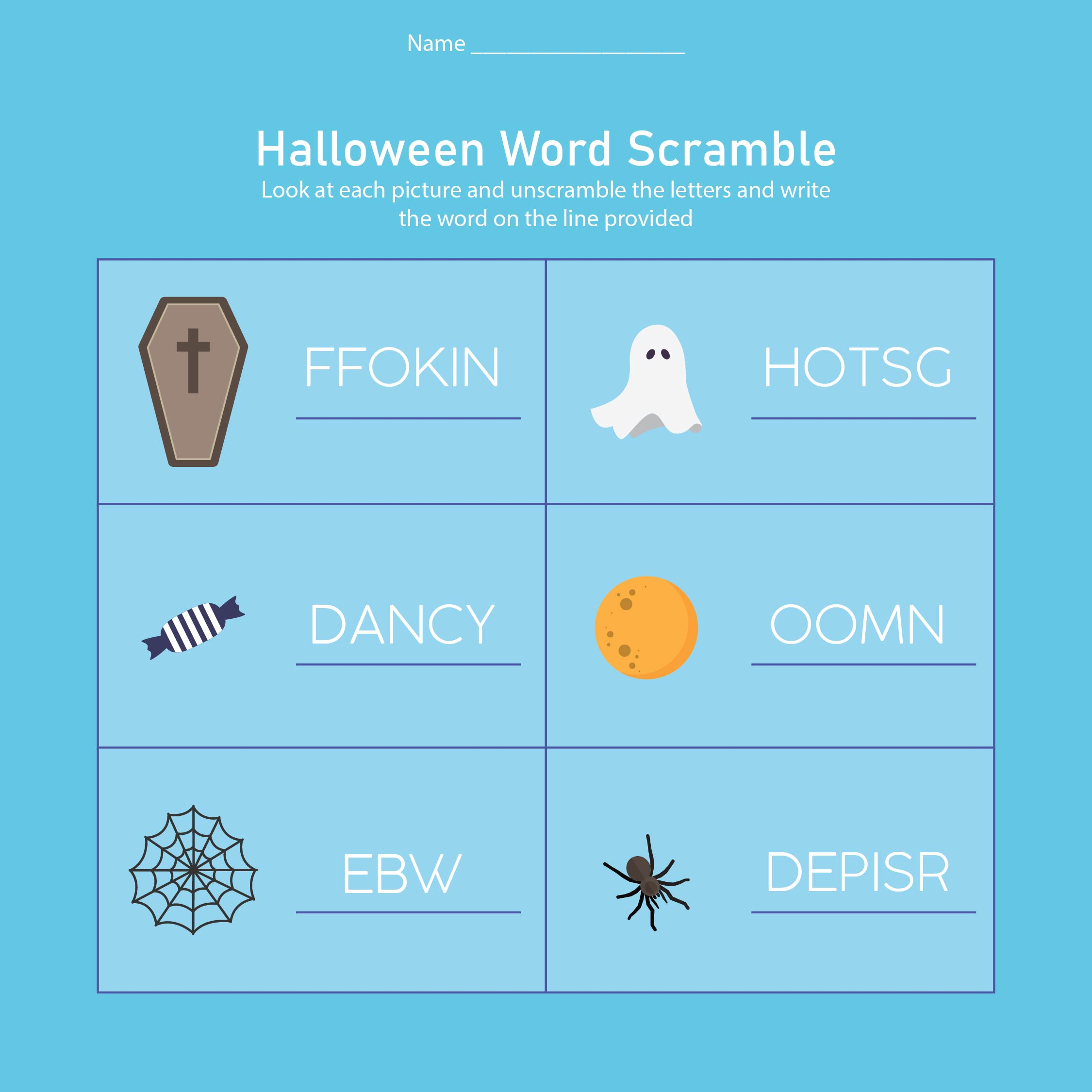 8 Best Free Printable Halloween Worksheets