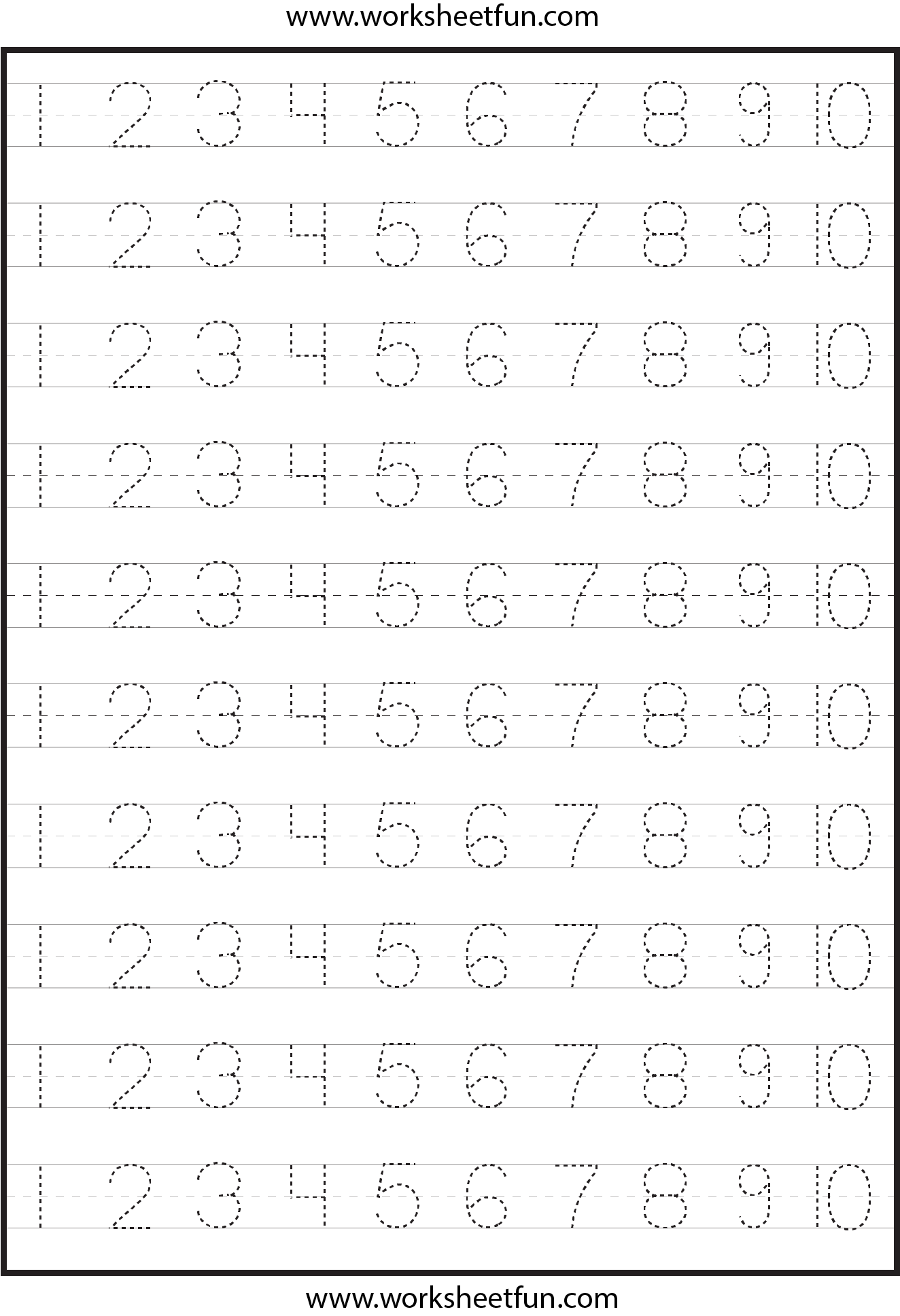 8 Best Images Of Number Tracing Worksheets Free Printable