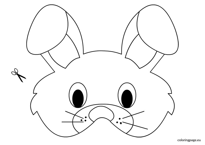 Rabbit Mask Coloring Pages Sketch Coloring Page