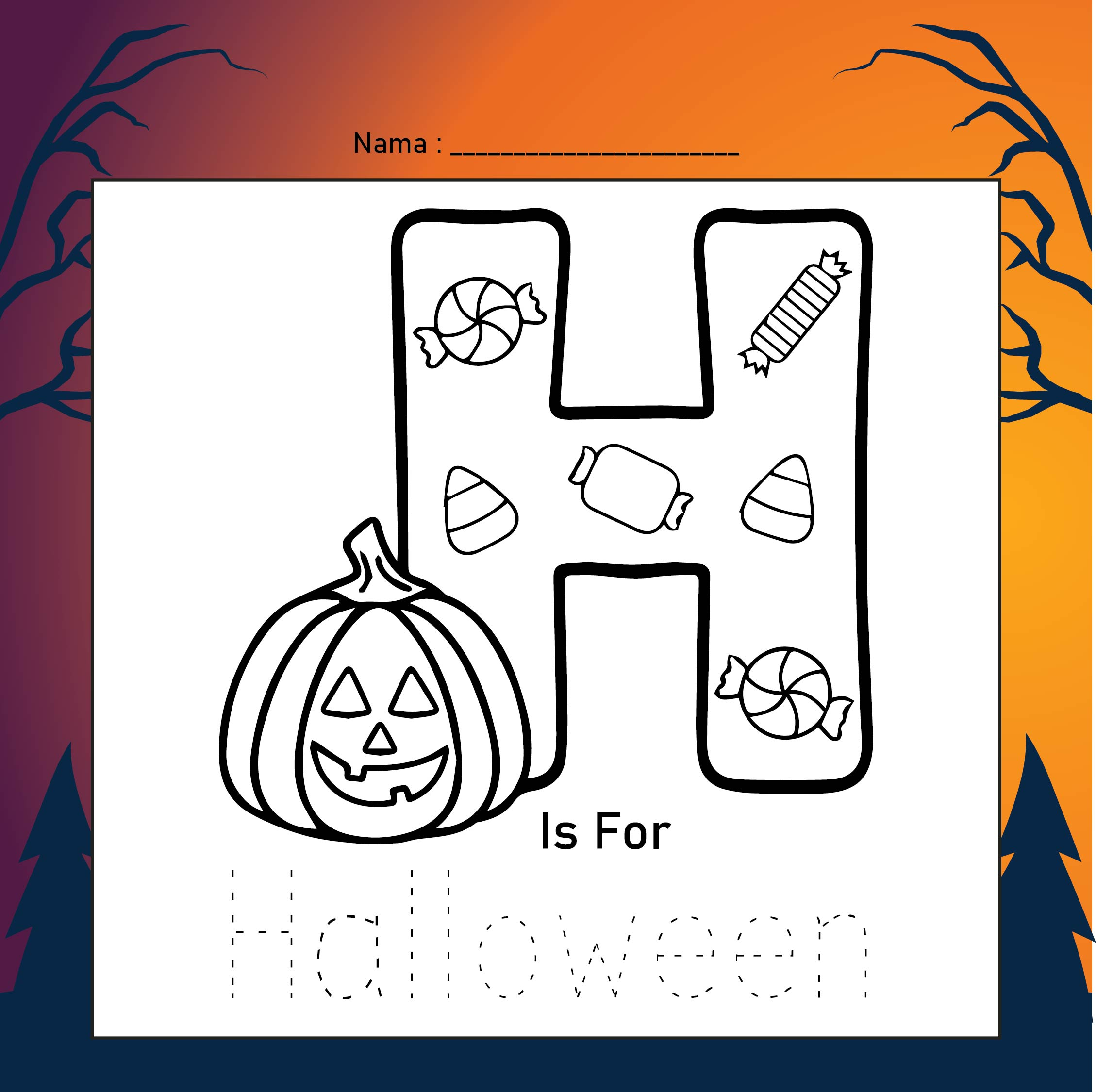 11 Best Fun Free Printable Halloween Worksheets