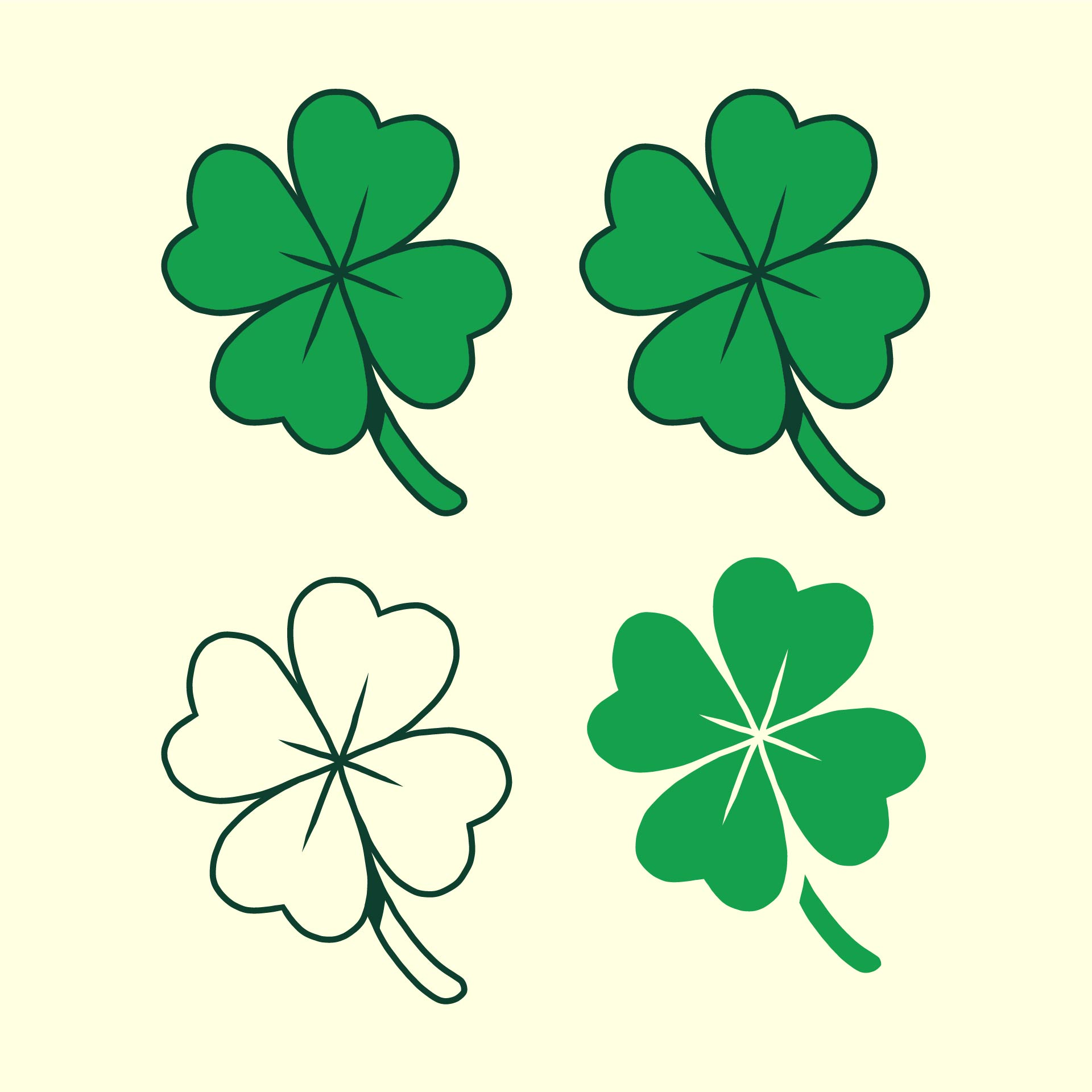 5 Best Images Of Four Leaf Shamrock Template Printable St Patrick S Day Clover Template 4 Clover Leaf Template Shamrock Pattern And Four Leaf Clover Pattern Printable Printablee Com