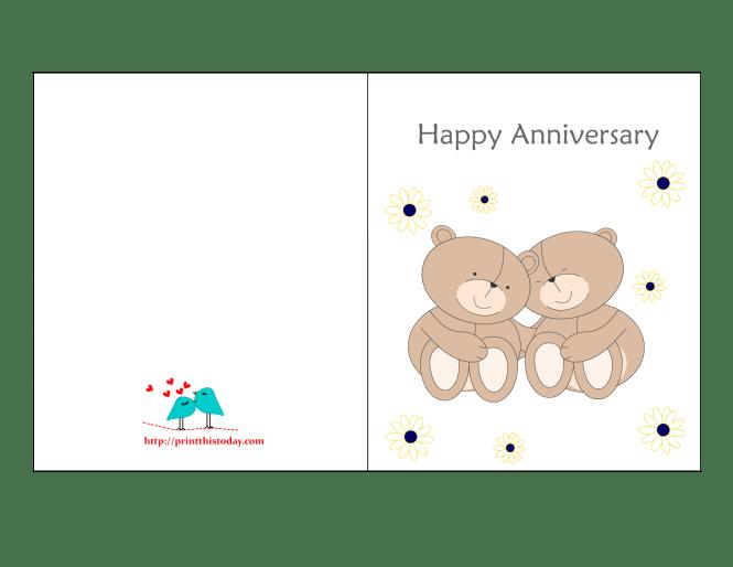 Printable Wedding Anniversary Cards For Husband Wedding – Free Printable Anniversary Cards for Her