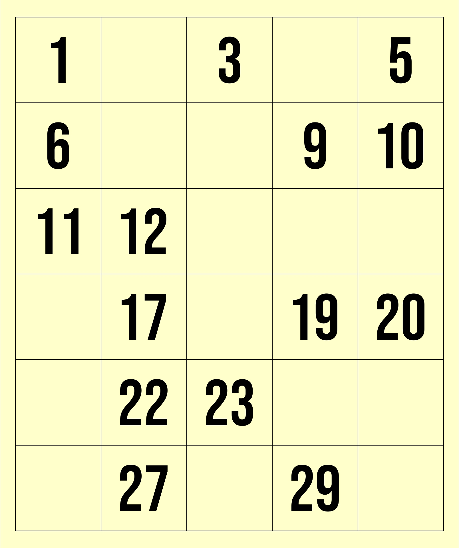 9 Best Images Of Printable Numbers From 1 30