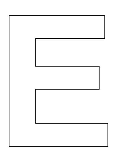 6 Best Images Of Large Printable Letter E Letter E