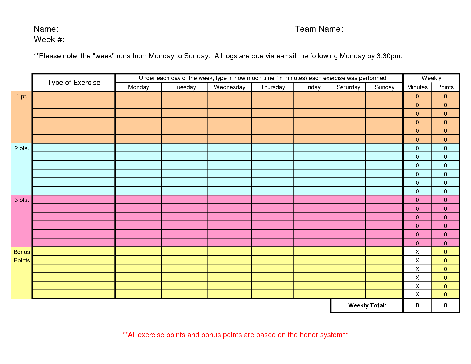 Search Results For Workout Sheet Template Calendar