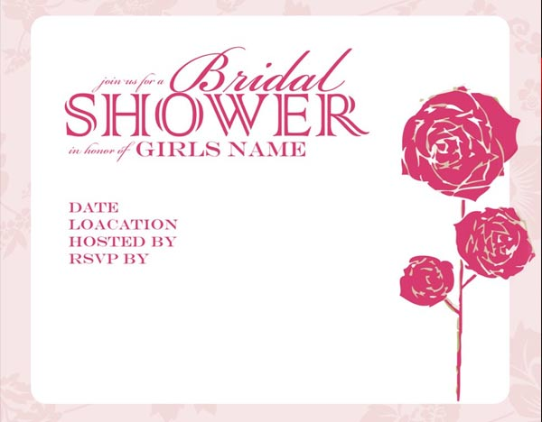Bridal Shower Invitation Templates Free Wedding Invitation Sample – Bridal Shower Invitations Template