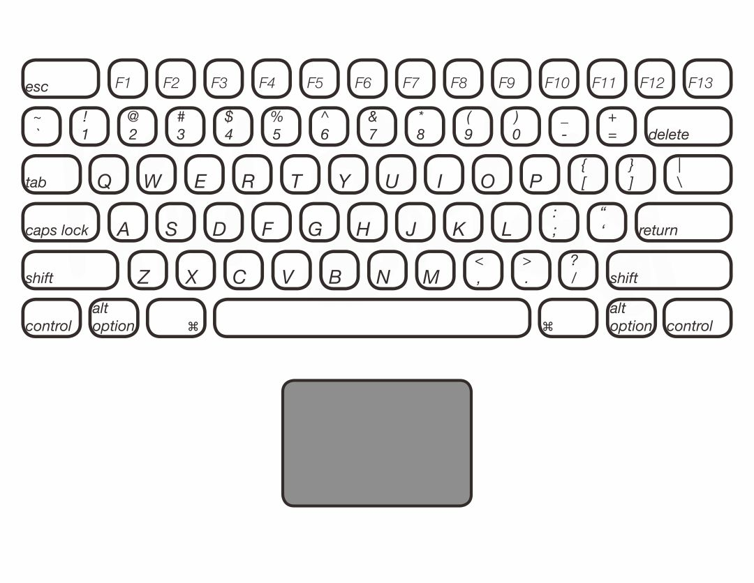 7 Best Images Of Printable Laptop Keyboard
