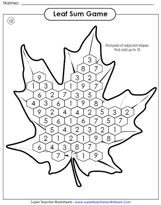 7 Best Images of Free Printable Fall Math Coloring
