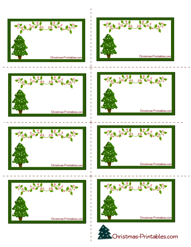 Holiday Address Label Templates