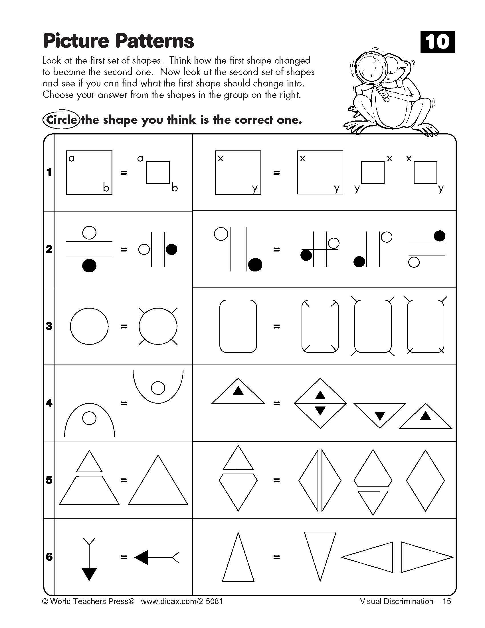 7 Best Images Of Cognitive Skills Worksheets Printable
