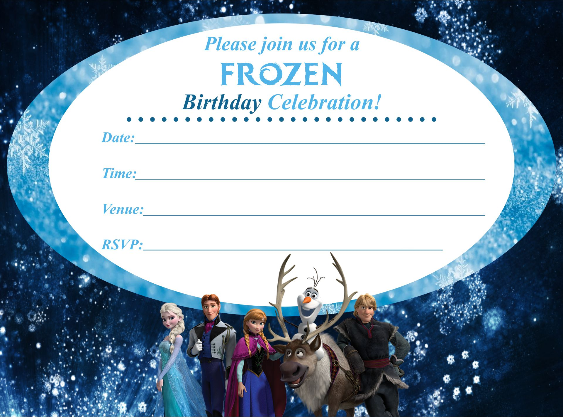 9 best frozen birthday invitations