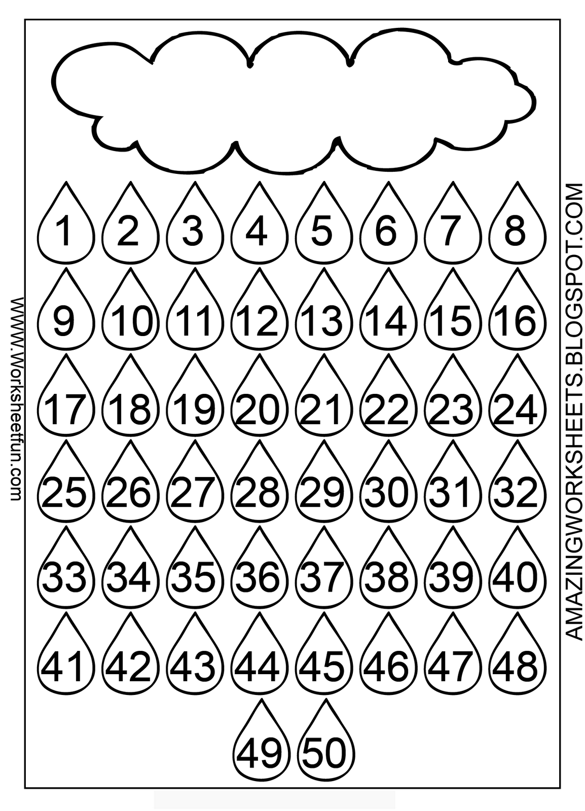 4 Best Images Of Large Printable Number Chart 1 50