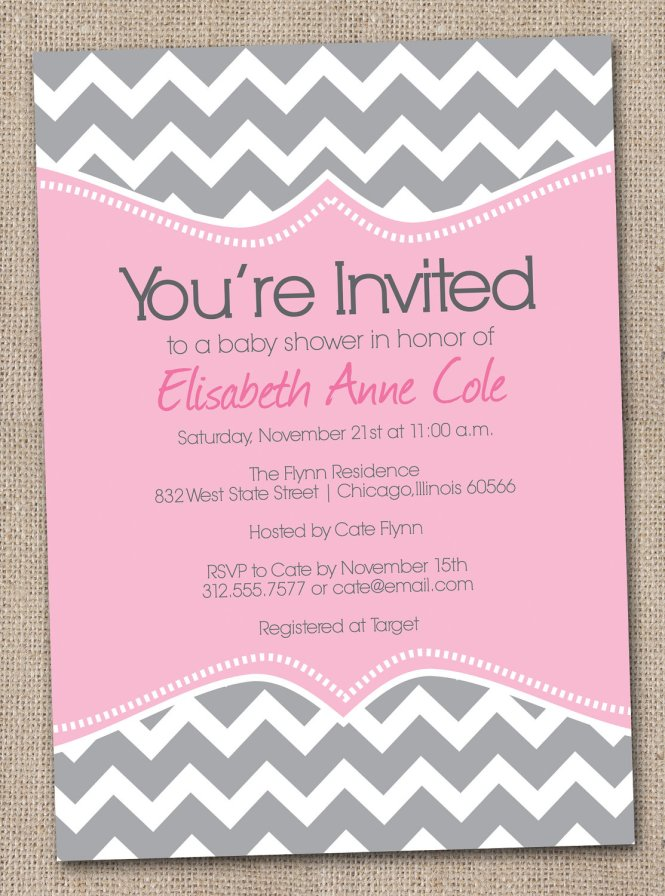 Chevron Invitation Template