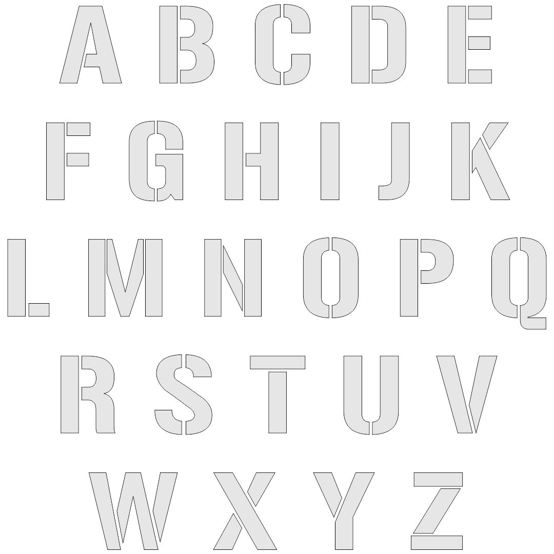 8 Best Images Of Free Printable Cut Out Letters