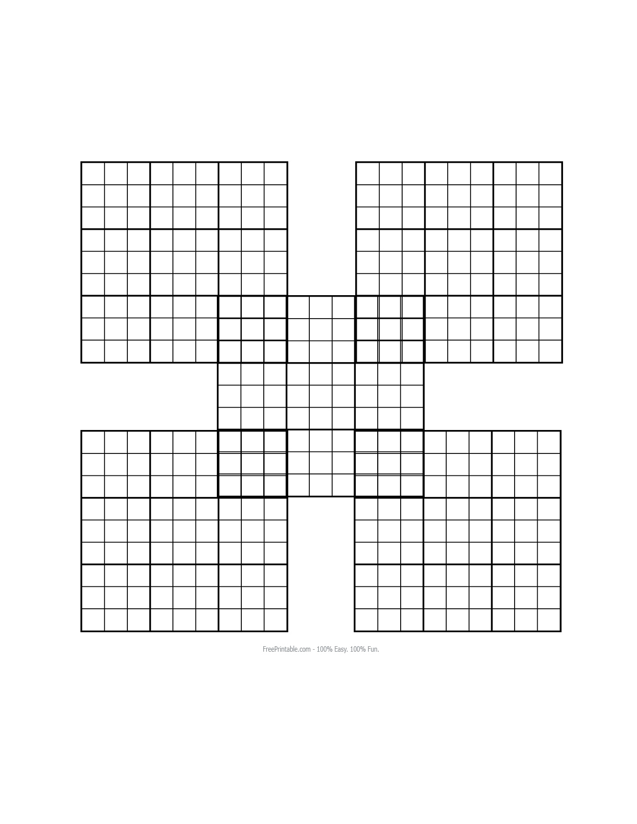 3 Best Images Of Printable Blank Sudoku Grid