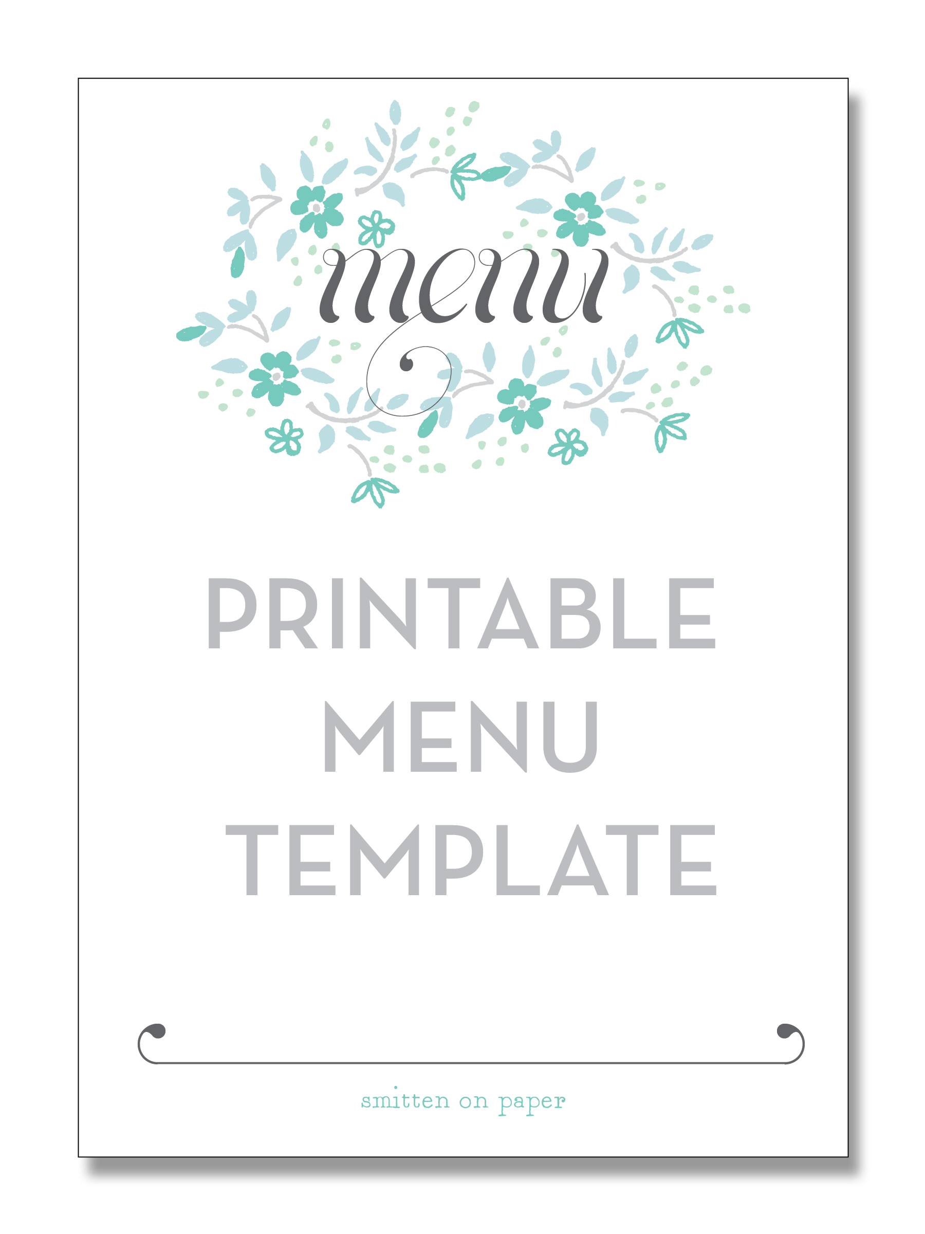 Menu Printable Images Gallery Category Page 1