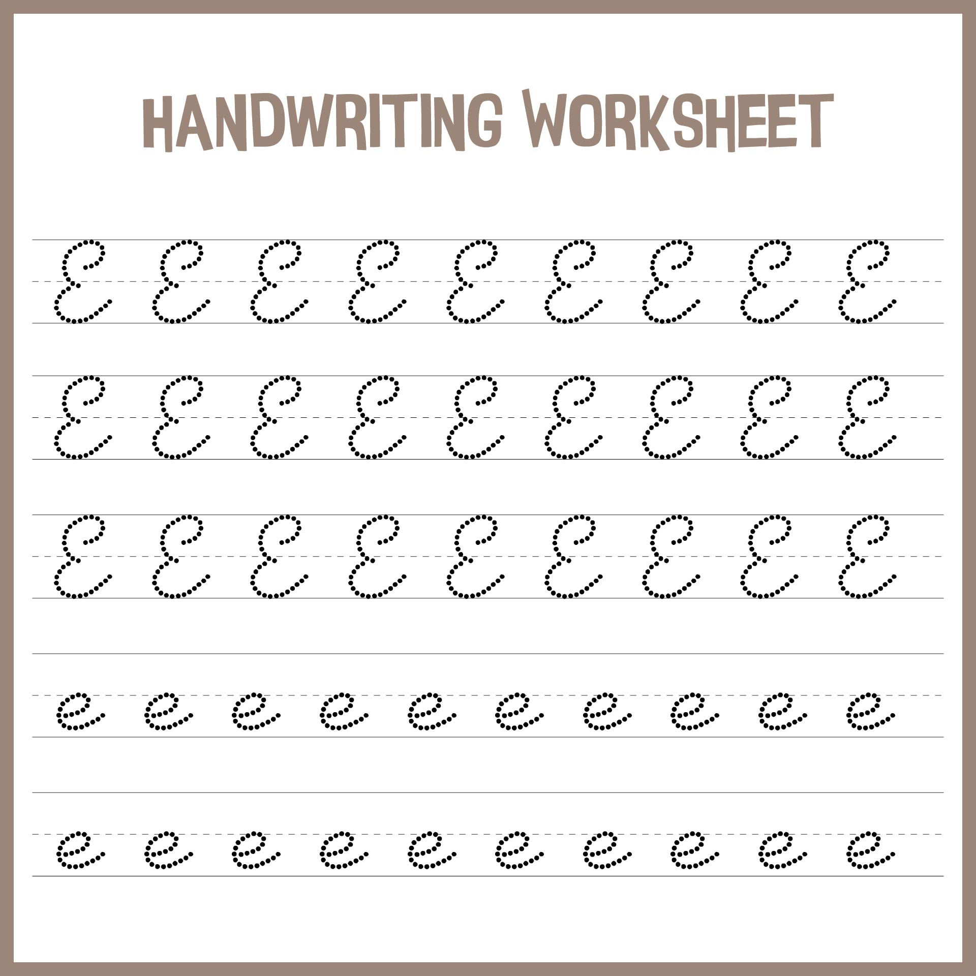 7 Best Images Of Handwriting Printable Kindergarten Worksheets