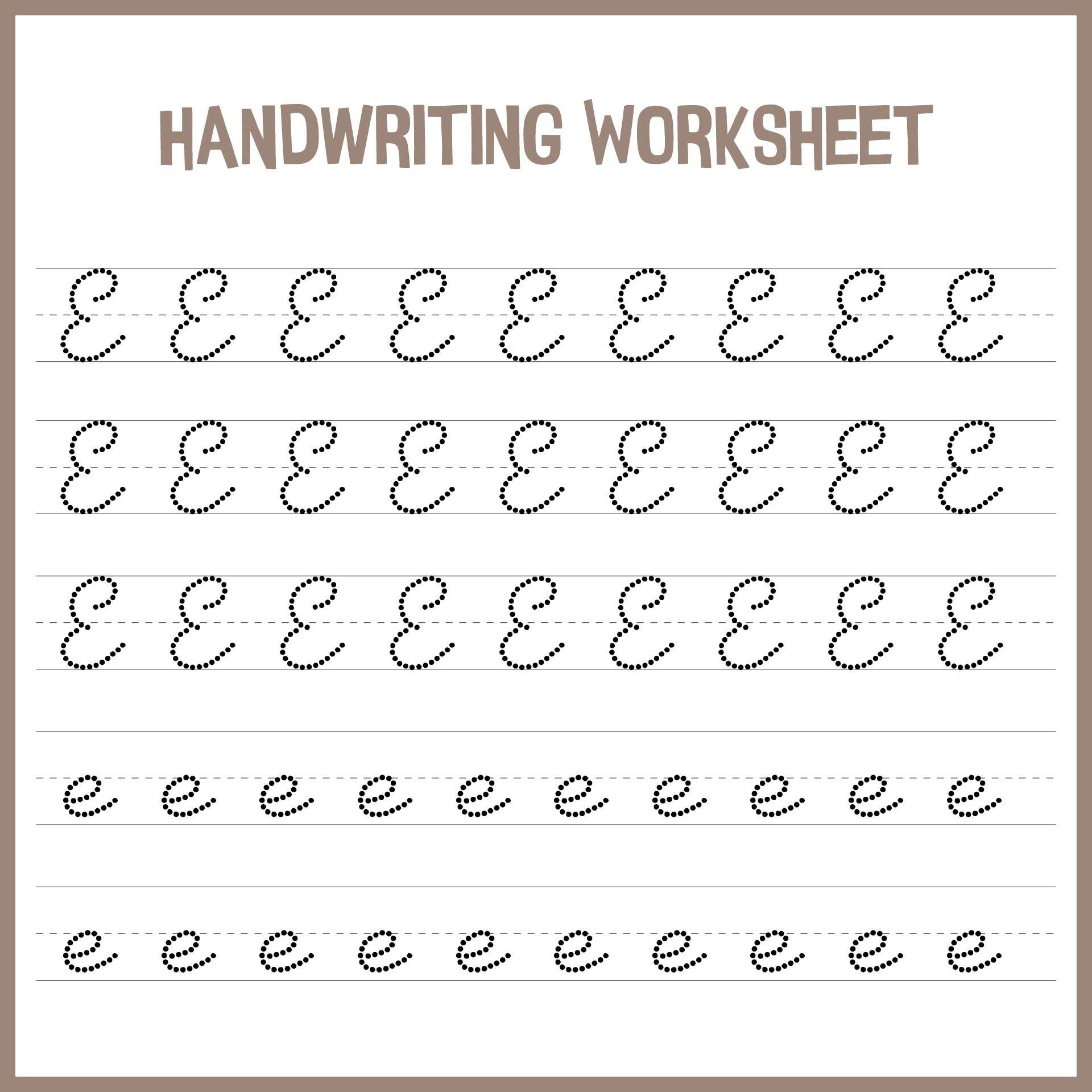 hight resolution of 7 Best Handwriting Printable Kindergarten Worksheets - printablee.com