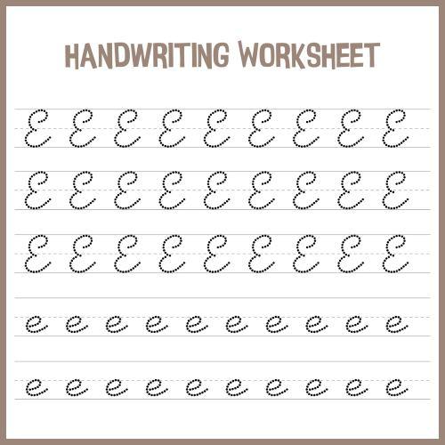 small resolution of 7 Best Handwriting Printable Kindergarten Worksheets - printablee.com
