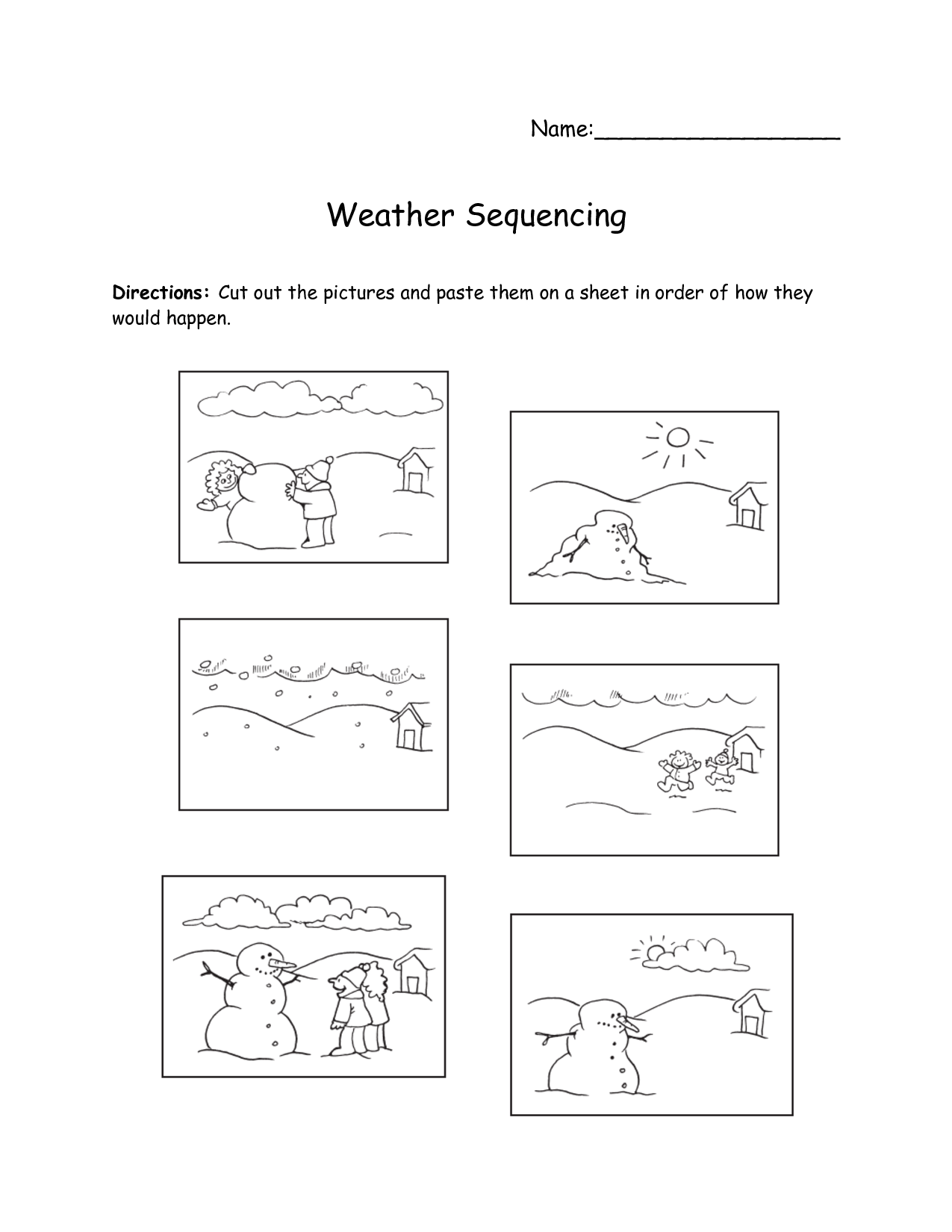 8 Best Images Of Free Sequencing Printable Preschool