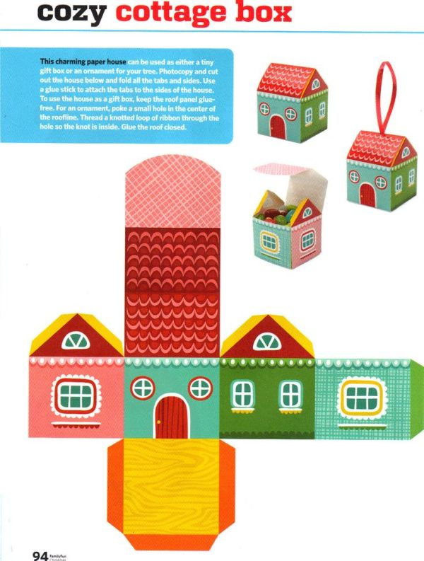 7 Best Images of Paper House Printable Craft Templates