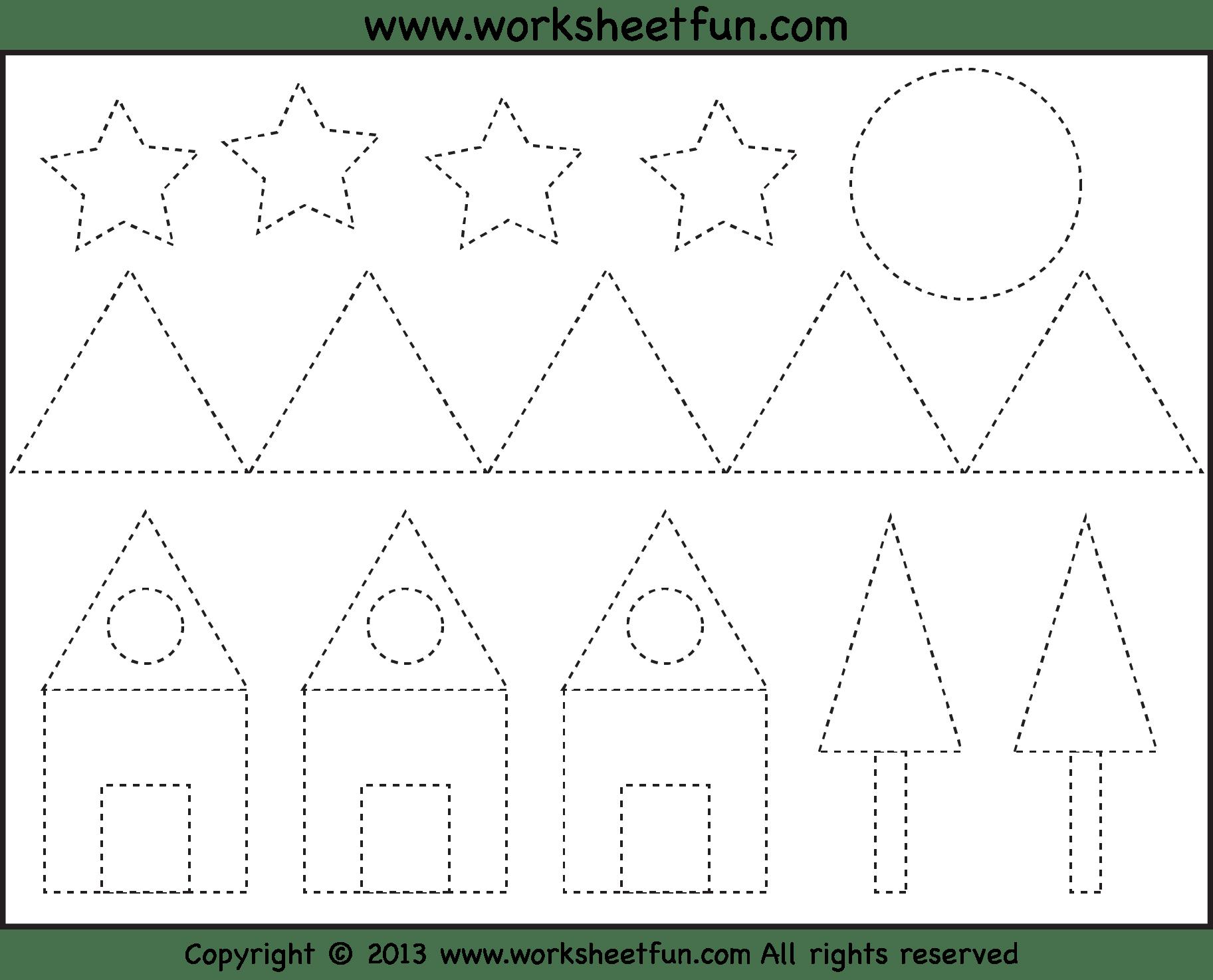 5 Best Images Of Printable Shape Tracing Worksheet