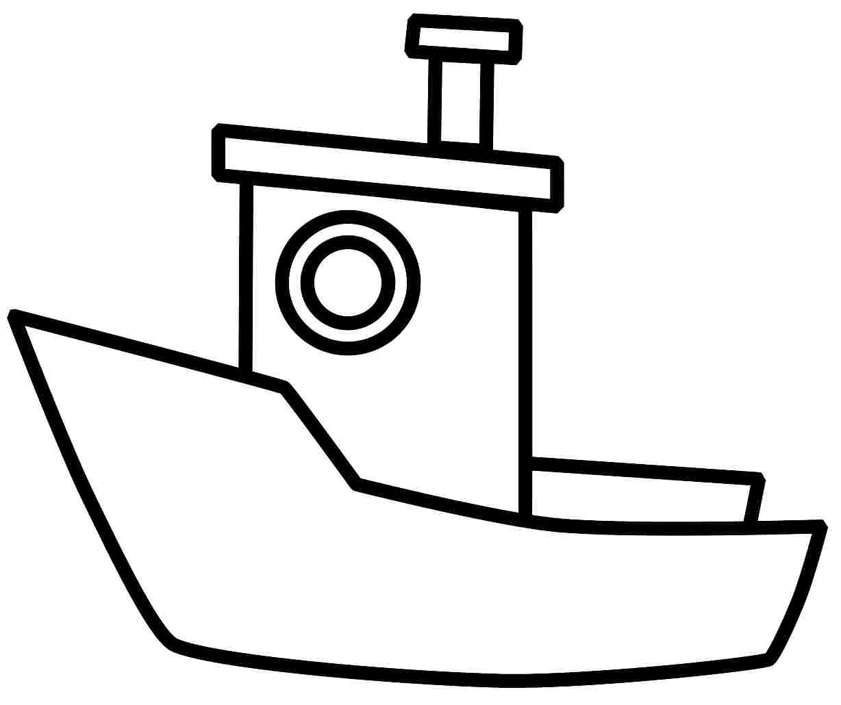 4 Best Images Of Boat Coloring Pages Printable