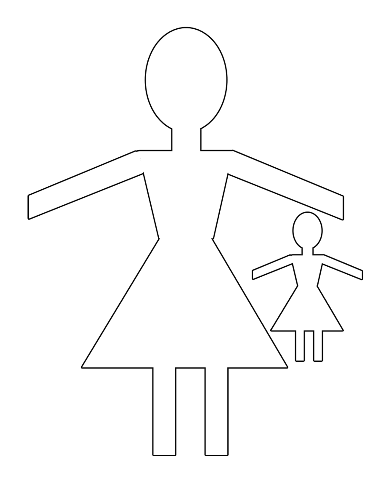 28 Images Paper Doll Templates Cut Out