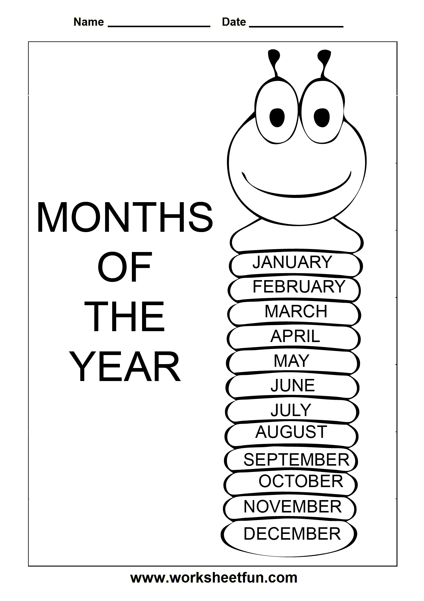 8 Best Images Of Printable Worksheets About Months Of The